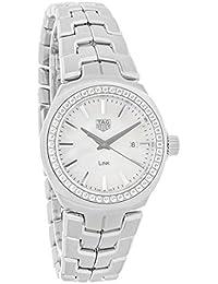 Tag Heuer Link Mutter von Pearl Diamant Lünette Damen-Armbanduhr WBC1314. ba0600