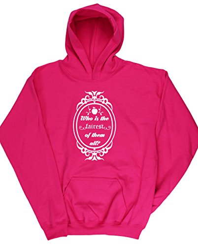 hippowarehouse-who-is-the-fairest-of-them-all-kids-unisex-hoodie-hooded-top