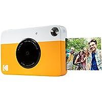 Kodak - Appareil photo à impression instantanée Kodak Printomatic avec papier autocollant ZINK 5 cm x 8 cm - Jaune