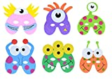 Storm&Lighthouse 12x Máscaras de Espuma de Monstruo / Extraterrestre - Máscaras de Fiesta para niños / Máscaras de Disfraces / Favores de Fiesta / Regalos