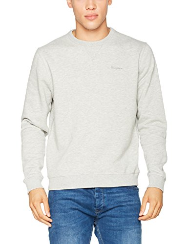 Pepe Jeans London Herren Sweatshirt Crew Neck Grau (Grey Marl)