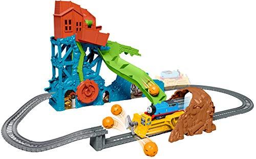 Thomas & Friends il Trenino Thomas, Pista Playset Grotta, Include Le Locomotive e Darcy, Giocattolo per Bambini 3+ Anni, GDV43