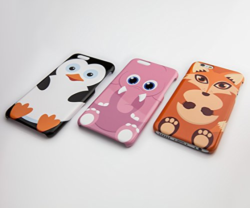 Cute Animal Schutzhülle für iPhone, tolle Cartoon-Designs, plastik, 8. Fox, iPhone 6 Plus 9. Duck