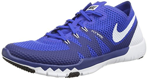 Nike Free Trainer 3.0 V3, Unisex-Erwachsene Hallenschuhe, Blau (Game Royal/White-Deep Royal), 46 EU (Nike-4 V3)