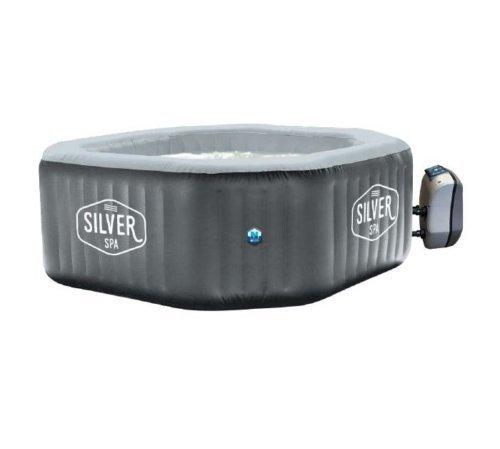 Netspa Silver 5 6 Person Octagonal Shape Hot Tub Spa