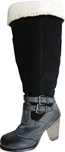 Unbekannt Stiefel, Stivali donna Grigio (grigio)