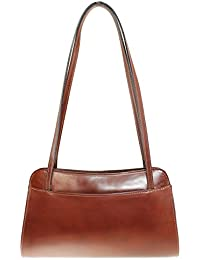 CTM Shoulder Bag Ladies Monedero de las señoras, 30x18x11cm, cuero genuino 100% Made in Italy