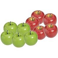 SODIAL(R) Decorativas Artificial Manzana Plastico Frutas Imitacion Decoracion Domestica 10pcs Rojo y Verde