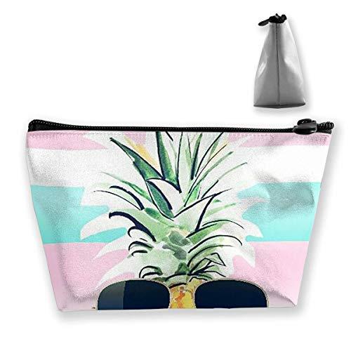 Kosmetiktasche für Frauen Make-up Pouch Geldbörse Cute Travel Organizer Bag Ananas Sonnenbrille