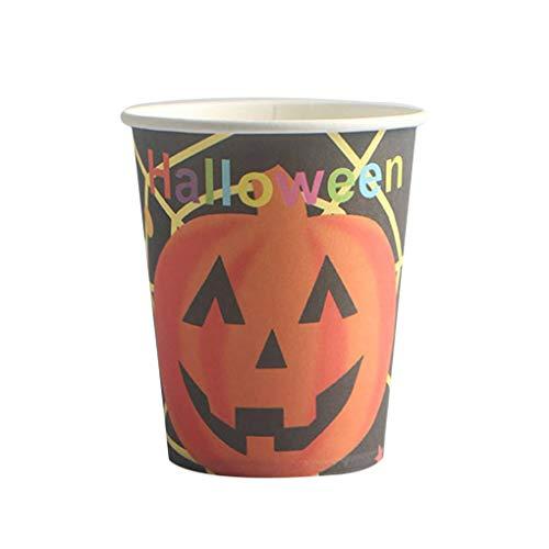 Halloween Customes Für Männer - LafyHo 10PCS Karikatur-Halloween-Kürbis-Mann-Hexe-Muster Wegwerfpapierschale für Cosplay