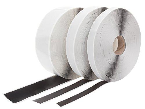 Butylband Schwarz beidseitig klebend 15 mm x 1 mm. Länge: 25 Meter