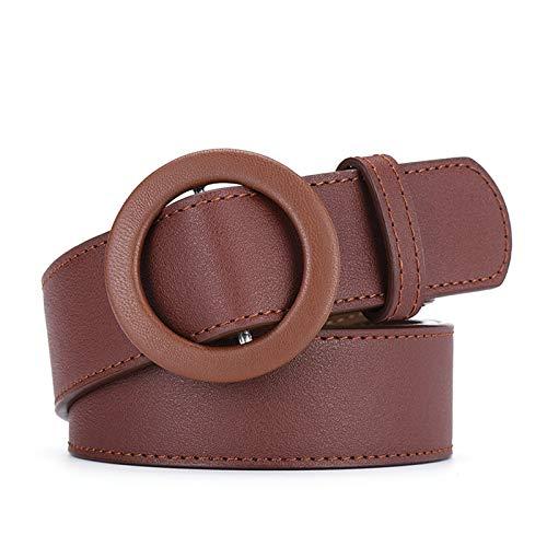 Blisfille Gürtel Für Kleid Damen Gürtel Jeans Braun 105 cm Mit Schnallen Echt Leder Gürtel Damen