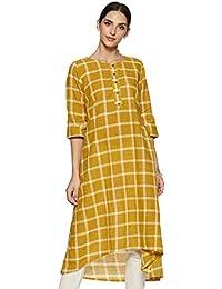 Rangmanch By Pantaloons Women's cotton Straight Kurta