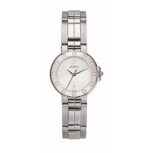 MICHEL HERBELIN WOMEN'S STEEL BRACELET & CASE QUARTZ ANALOG WATCH 12898/12YB19