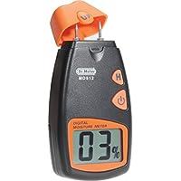 Dr.Meter MD812 - Medidor de humedad digital con 2 pines (sensor para las paredes, madera de calefacción), color negro y naranja
