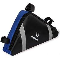 Triangolo Tinksky portatile a forma di bicicletta bici telaio anteriore tubo PVC sella borsa strumenti borsa custodia (blu)