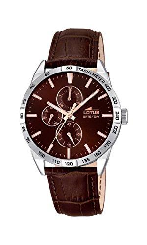 Lotus 18219/3 – Reloj de pulsera de cuarzo analógico para caballero, piel