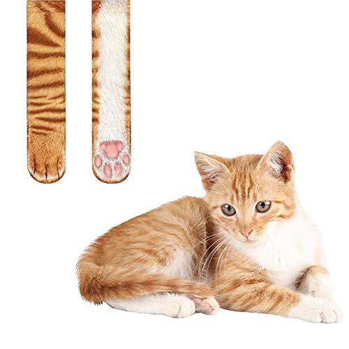 Neuheit Tierdruck-Sock-5 Pair, Unisex Lifelike Animal Paw Sublimated Print Crew Socks, Polyester Rich, komfortabel, zu atmen, High Performance Thermal Socken,C