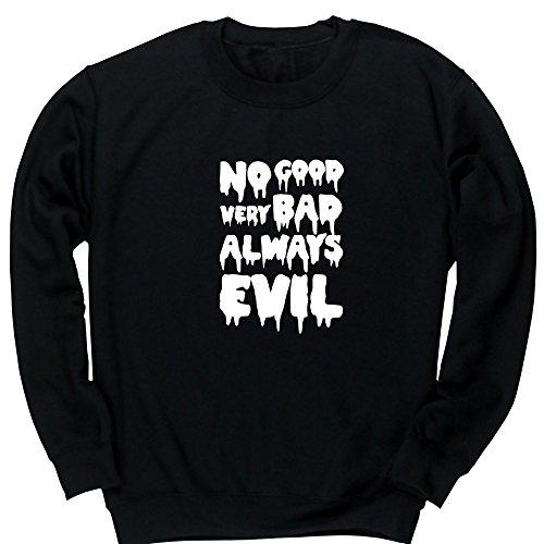 Hippowarehouse Good Very Bad Always Evil Kids Children's Unisex Jumper Sweatshirt Pullover