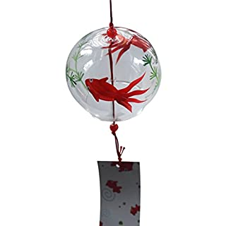 ACEVER Handmade Japanese Wind Chimes Bell Glass Suncatcher Christmas Tree Pendant