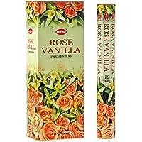 Rose di incenso alla vaniglia (6confezioni = 120bastoncini) con supporto per bastone da Sterling Effectz