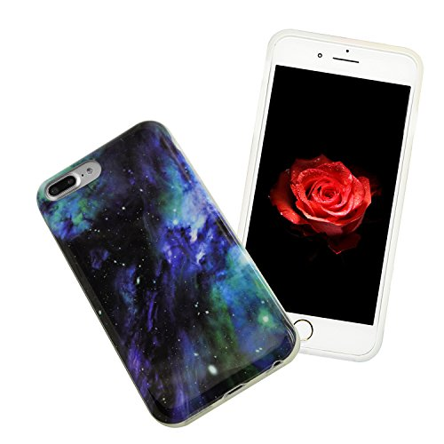 iPhone 8 Plus Hülle, iPhone 8 Plus Marmor Handyhülle, iPhone 8 Plus Marble Hülle, Sunroyal Marmor Serie Flexible TPU Silikon Schutz Handy Hülle Handytasche HandyHülle Schale Case Cover Schutzhülle für Farbe 43