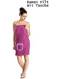 WEWO Fashion Damen Saunakilt # 9534T mit Tasche