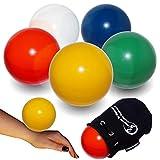 Flames 'N Games Pratica Palla di Contatto + Borsa Scamosciata - Palle di Contatto PRO per Tutte Le abilità. Disponibile in 3 Dimensioni e 5 Colori!! (Blu, 100mm)