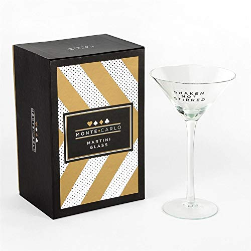 Monte Carlo Casino-Mottoparty Martini Cocktail Glas in Gold Geschenk-Box–