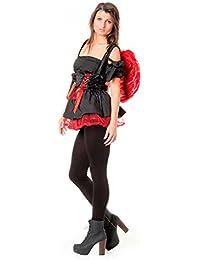 r-dessous 3 tlg roter Engel Kostüm rot Engelskostüm red angel Teufel Halloween Karneval Fasching Motto Party