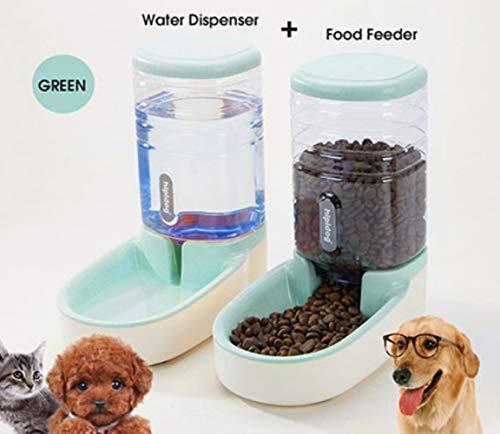 ZIMO Automatischer Wasserspender mit großem Fassungsvermögen für Hunde, Katzen, Wasserflaschen, grüne Nahrung und Wasser, 3,8 l -