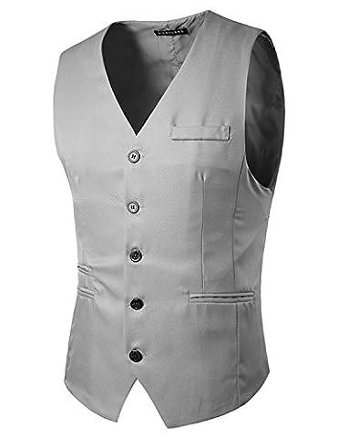 YCHENG Herren Weste Anzug Vintage Casual Business Stilvoll Vest Slim fit