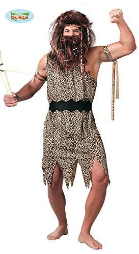 Höhlenmensch Kostüm für Herren Gr. M-L, - Kostüme Höhlenmenschen