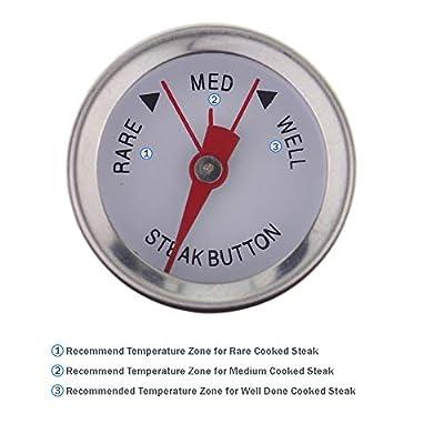 Steak Thermometer, Medium, Weiß-4Stück-Die perfekte Steak für Ihre Gäste Kochen Koch Grilling