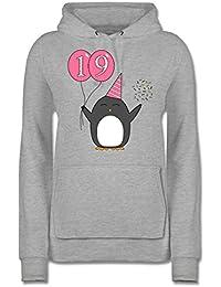 36-38 Damen Pullover langarm Sweatshirt Kragen kariert Kontrast One Size