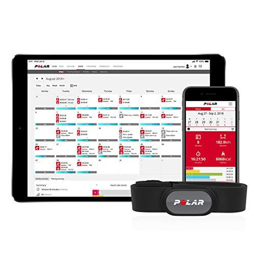 Polar H9 Sensor de frecuencia cardíaca, Adultos Unisex, Negro, M-XXL
