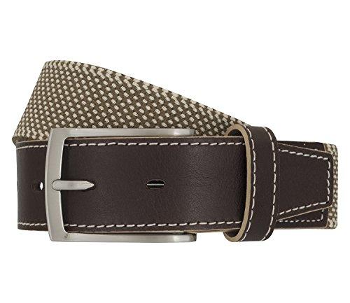 LLOYD Men's Belts Gürtel Herrengürtel Stretchgürtel Beige 6902, Farbe:Braun, Länge:130