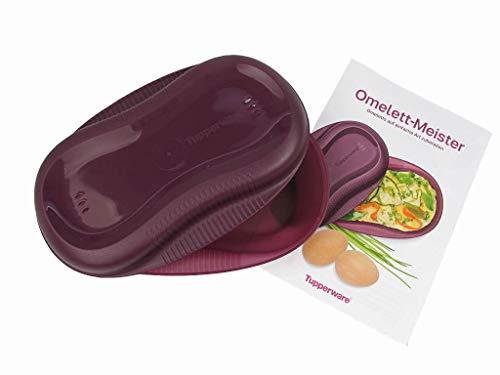 TUPPERWARE Mikrowelle Omelett-Meister lila Eier Mikro mit Rezept 7436 Microwave Egg Poacher