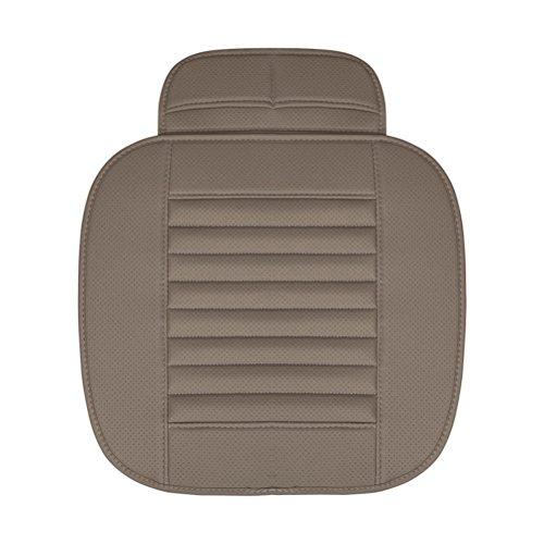 WINOMO Holzkohle Auto Innenraum Sitzkissen Abdeckungs Auflage Matte für Auto Versorgungsmaterialien (Grau)