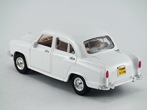 Centy Toys Classic of Ambassador Car(Moris Oxford)-Kidsshub 13.3 X 5.3 X 5 cm, Weight:100gms White