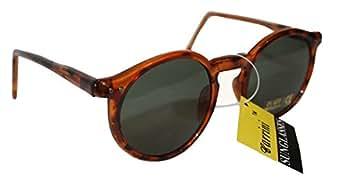 1980s Round Retro Brown Tortoise Shell Sunglasses Indie