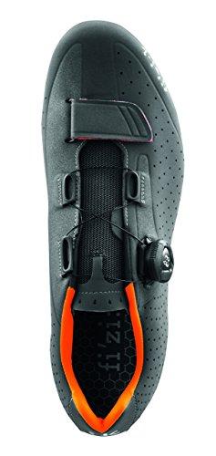 Fizik R5B Rennradschuhe Herren anthrazite/orange fluo 2017 Mountainbike-Schuhe anthrazite/orange fluo