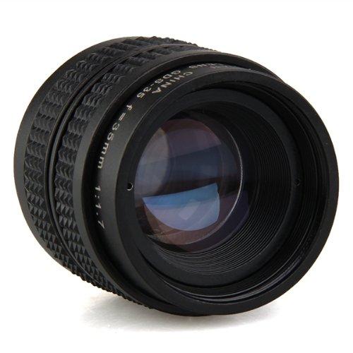 35mm f1,7 C Mount CCTV Objektiv Schwarz für M4/3 Kamera Olympus PEN...