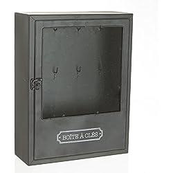 Scatola porta chiavi - Stile industriale vintage - Colore NERO .