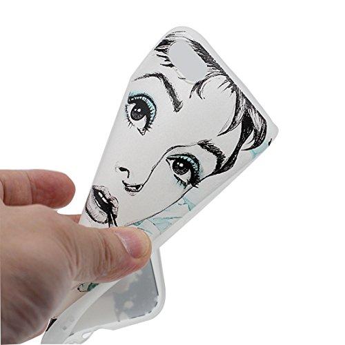 Custodia iPhone 7, Silicone trasparente iPhone 7 copertura Shell Protezione molle sottile del silicone TPU Cover Case Per iPhone 7 4.7 / tulipano fiore Color - 2