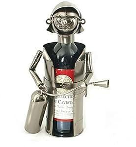 Porte bouteille Pompier avec extincteur
