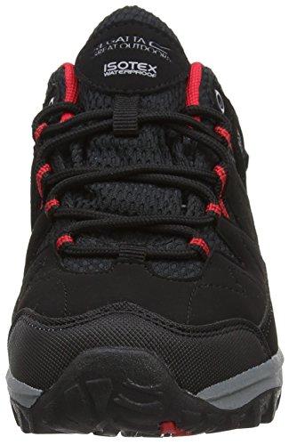 Regatta Holcombe Low Jnr, Chaussures de Randonnée Basses Mixte Enfant Noir (Black/pepper)