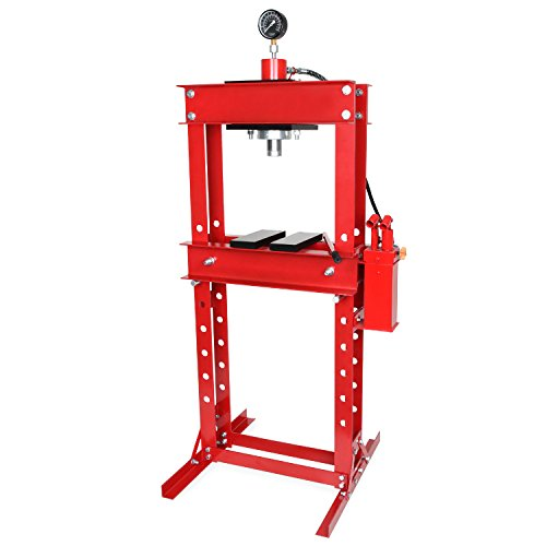 EBERTH 30t Werkstattpresse mit Manometer (2 Auflagebacken, Arbeitshöhe 820 mm 8-fach verstellbar, Arbeitsbreite 530 mm)