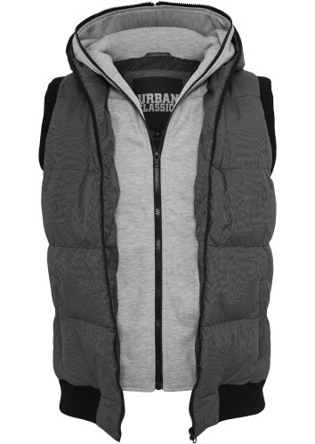 Urban Classics Herren Double Hooded Weste Original