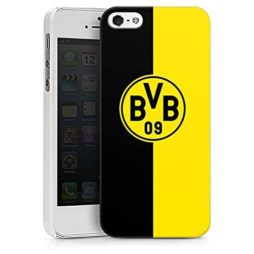 Apple iPhone 5s Tasche Hülle Flip Case Borussia Dortmund BVB Logo Hard Case weiß